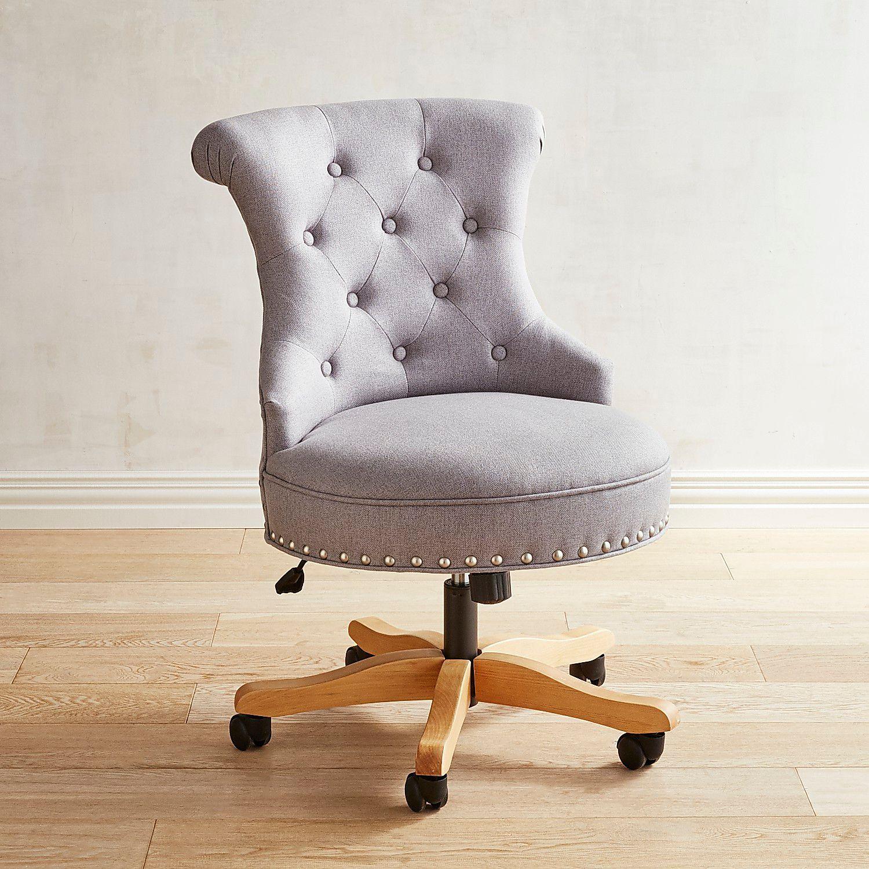 Hourglass Gray Swivel Desk Chair Pier 1 Imports Cheap