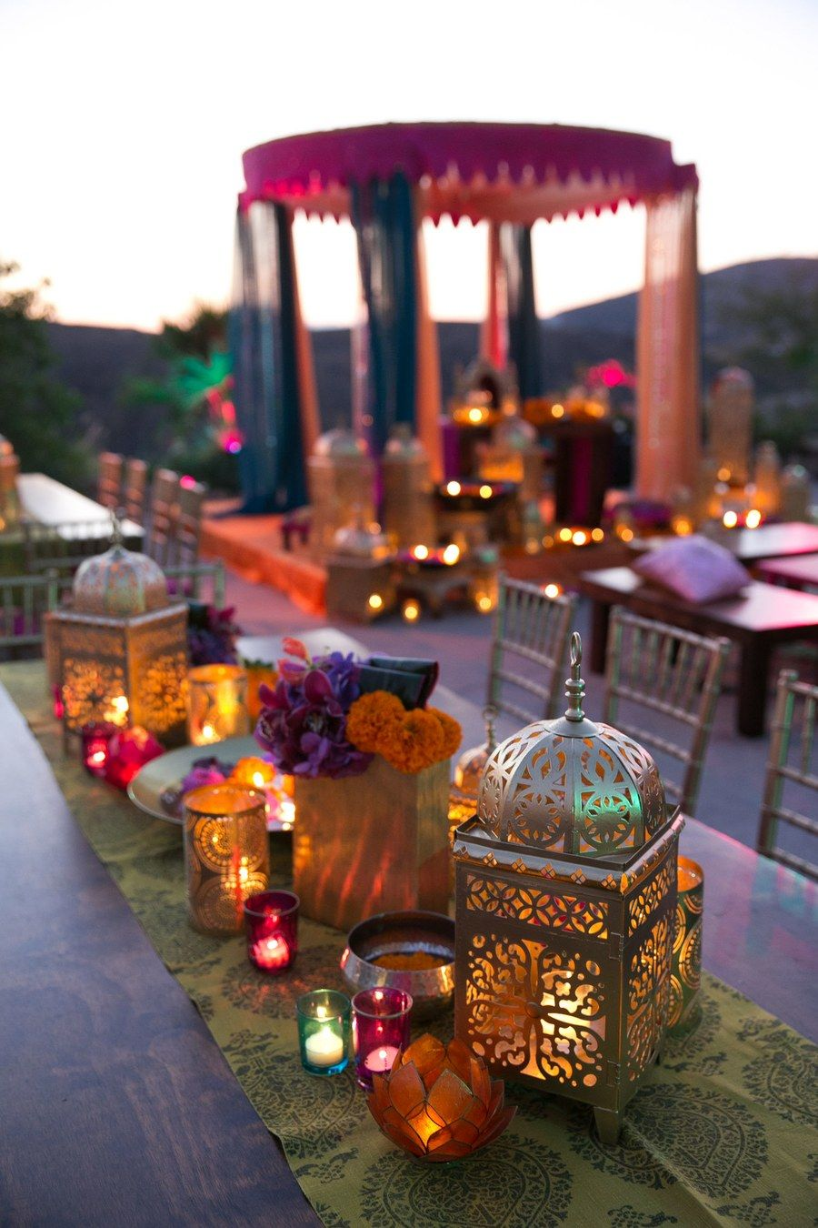 Wedding decoration ideas in the house  Real Wedding Album Elshane u Taylorus MoroccanThemed House Party