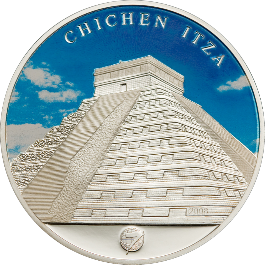 World Coin Wonders Gold Commemorative Coins Collection Plated Chichen Itza