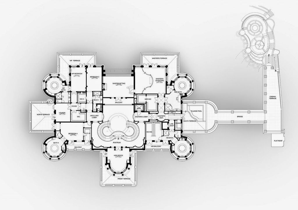 Homes mansions floor plans to le palais royal 935 for Royal homes house plans
