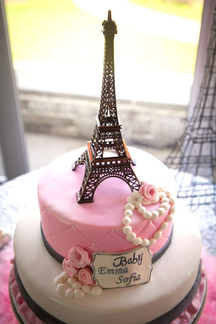 Pink Paris Themed Baby Shower With So Many Really Cute Ideas Via