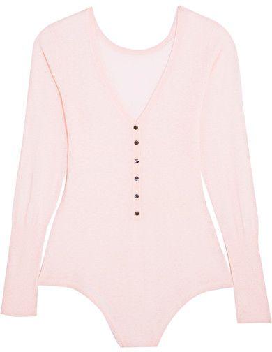 3d781785f6069 Eres - Futile Cachotterie Cashmere Bodysuit - Baby pink