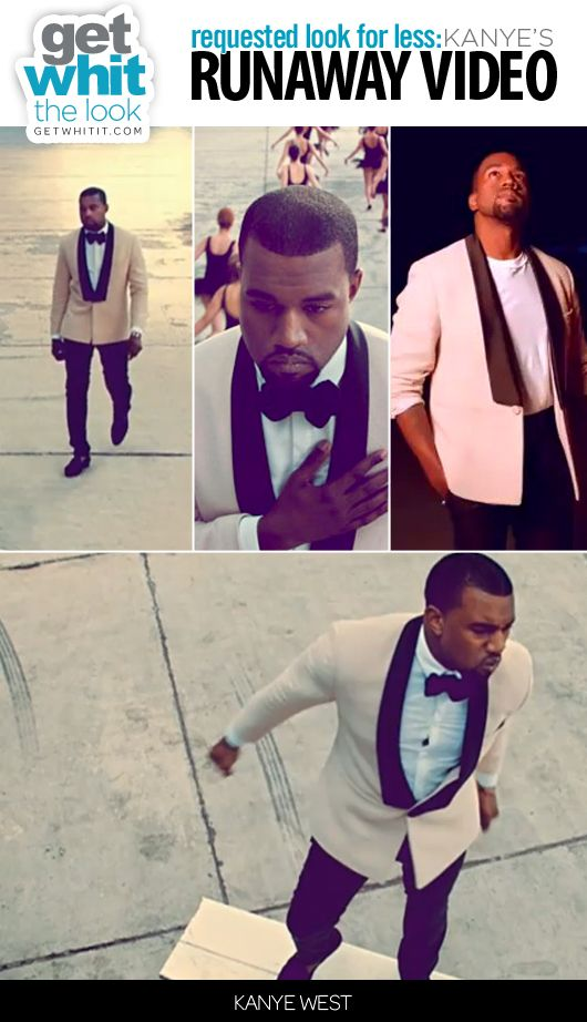 Get Whit It Celebrity Fashion Style Trends Requested Look For Less Kanye West S Runaway Video Kanye West Kanye Running Away