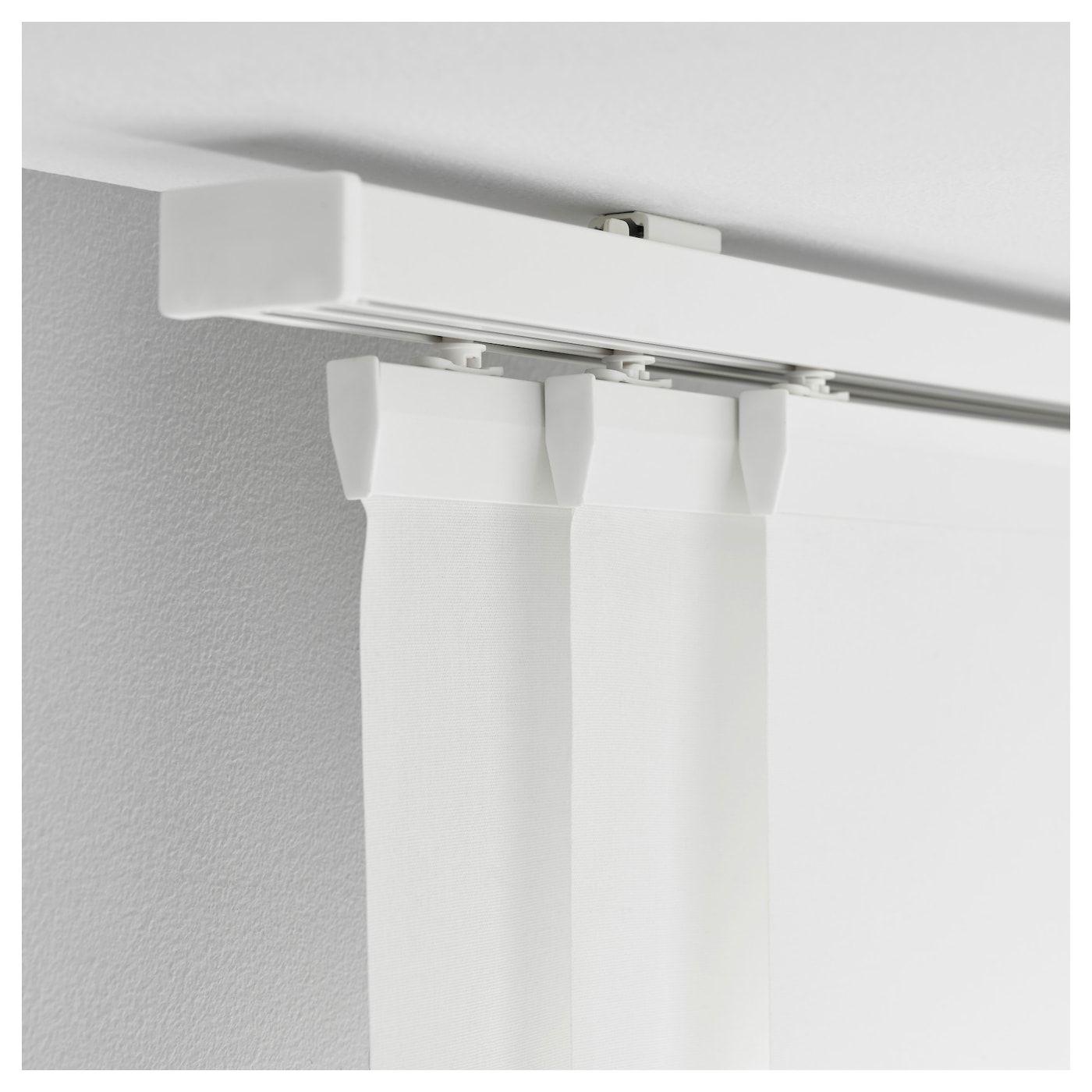 Vidga Triple Curtain Rail White Ikea Curtain Rails Ceiling Curtains Ikea Curtains