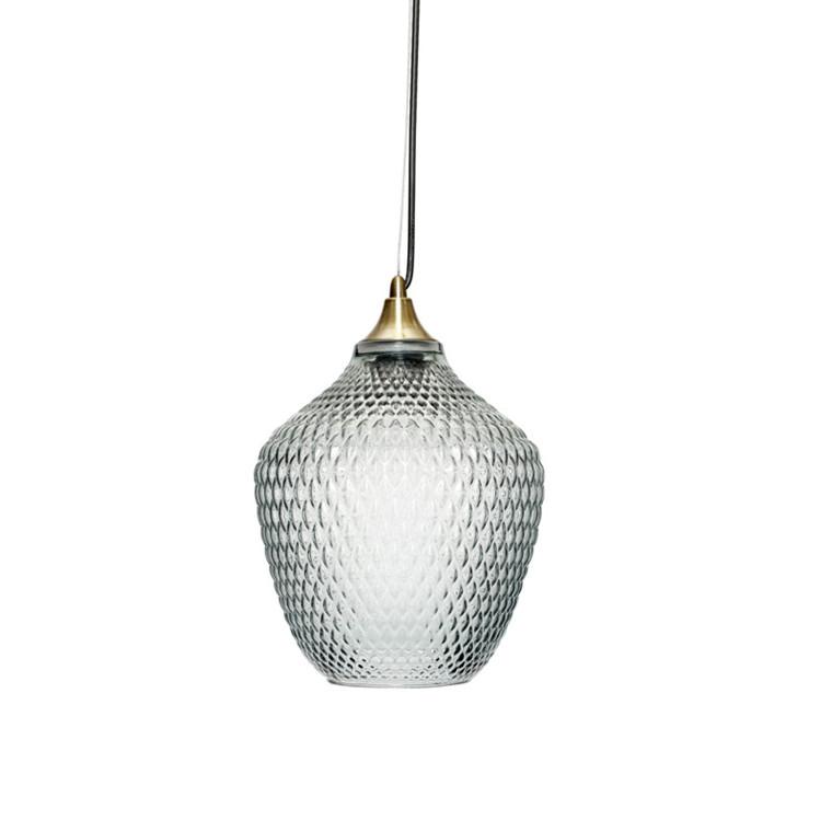 Hübsch Lampe Messing Blå Glas i 2020   Lampe, Loftslampe