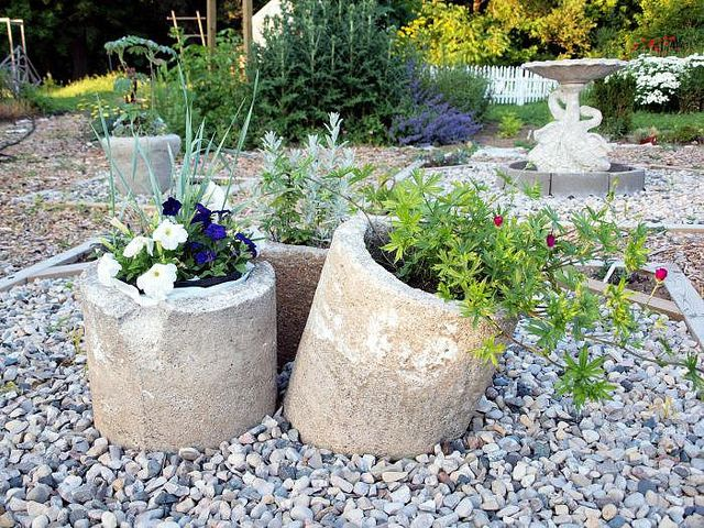 chimney pipes turned planters