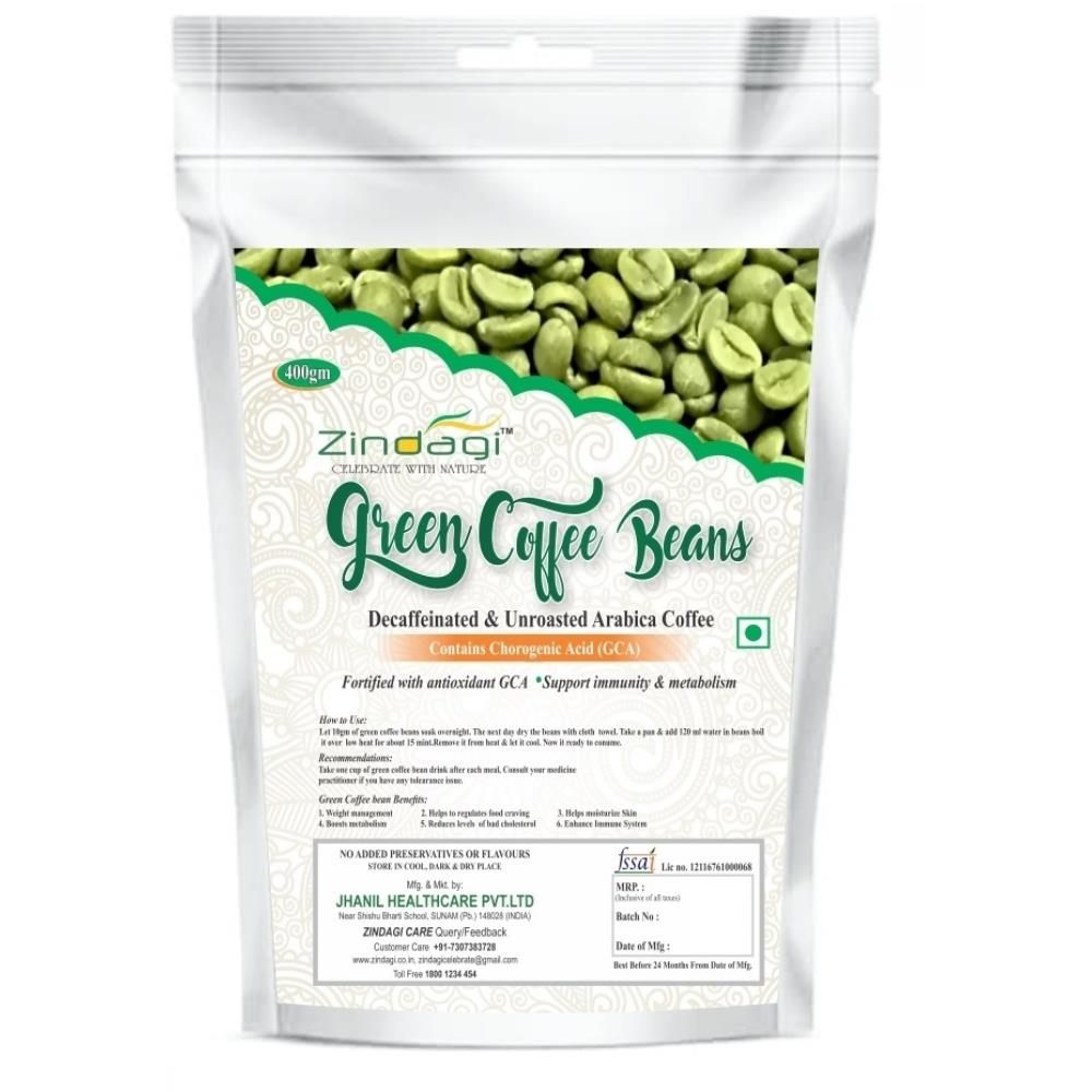 Buy Zindagi Natural Green Coffee Beans Online Coffee Beans