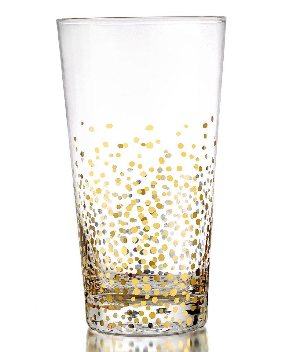 Gold Luster Highball Glass - Set of Four by  #zulily #zulilyfinds