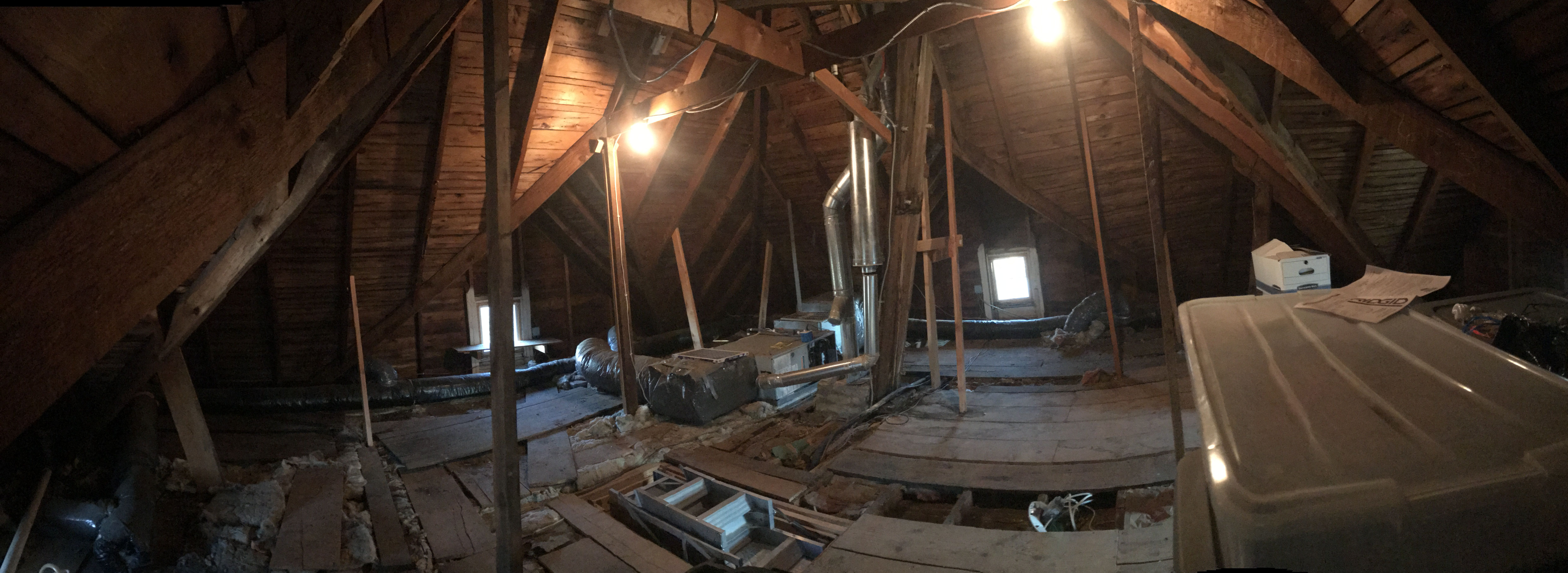 American Four Square Attic Renovation Before My Old House Phase 1 Cleanup Love My New Shop Vac Attic Renovation Old House Renovations