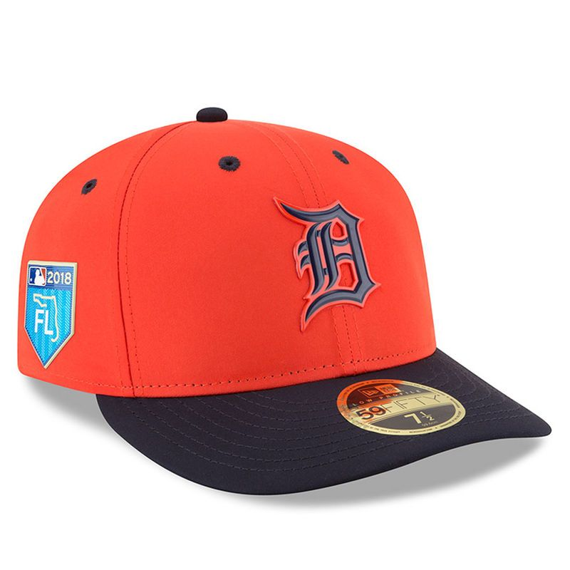 bb3e838927e Detroit Tigers New Era 2018 Spring Training Collection Prolight Low Profile  59FIFTY Fitted Hat – Orange