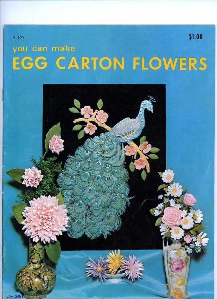 You Can Make Egg Carton Flowers H190 1971 Craft Course Booklet Vintage Crafts #CraftCoursePublishers