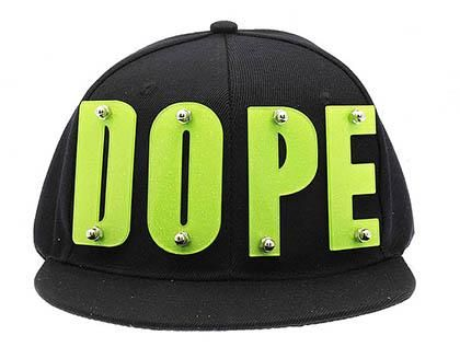 online store c17d3 c0c9d HAT AND CAP   DOPE   SNAPBACK   GLITTERY ACRYLIC LETTER   METAL BOLD SCREW    80% COTTON 20% CHEMICAL FIBER   ADJUSTABLE   ONE SIZE