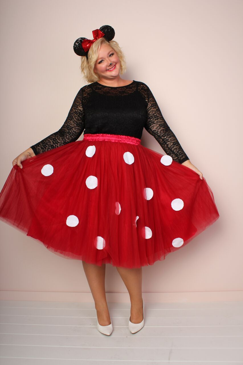 diy plus size costume - minnie mouse | diy plus size halloween looks