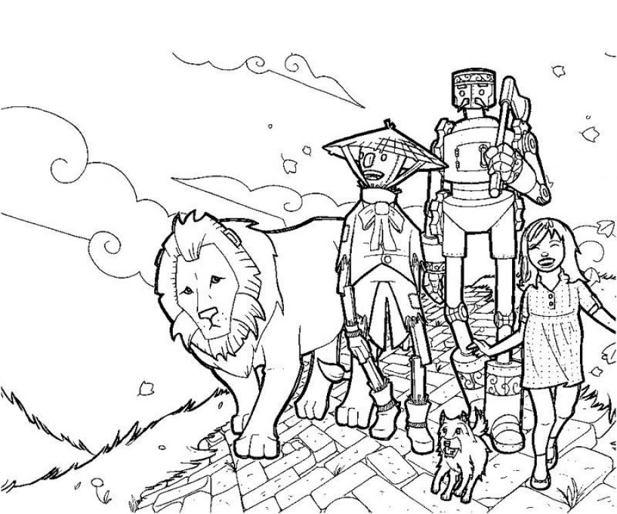 Free kids printable of Wizard of Oz coloring pages | Color it ...