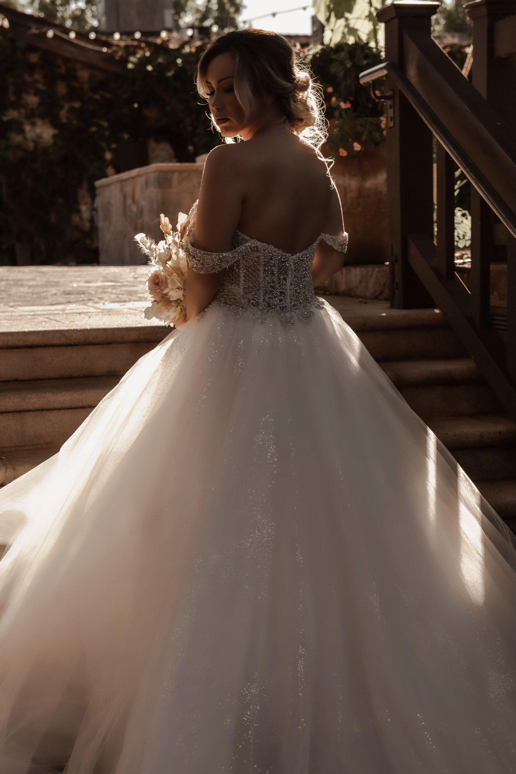 Sparkling Ballgown Wedding Dress by Casablanca Bridal