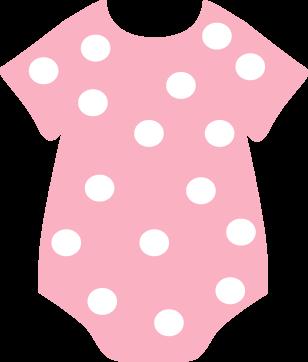 Pink Polka Dot Onesie Clip Art Pink Polka Dot Onesie Image Baby Girl Clipart Baby Pink Clothes Baby Shower Purple