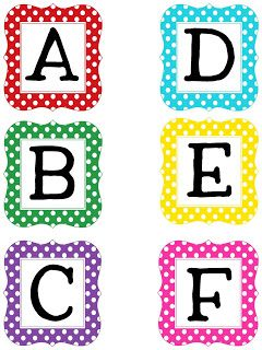 Free Printable Letters And Numbers  Polka Dot  Printables