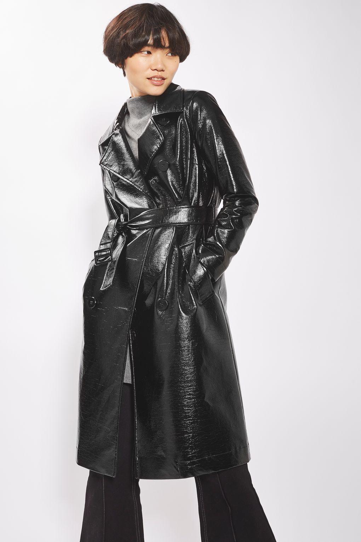 Vinyl Trench Coat In 2019 Coat Trench Coat Style