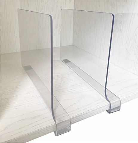2PCS Multifunction Acrylic Shelf Dividers,Closets Shelf And Closet  Separator For Wood Closet,Only