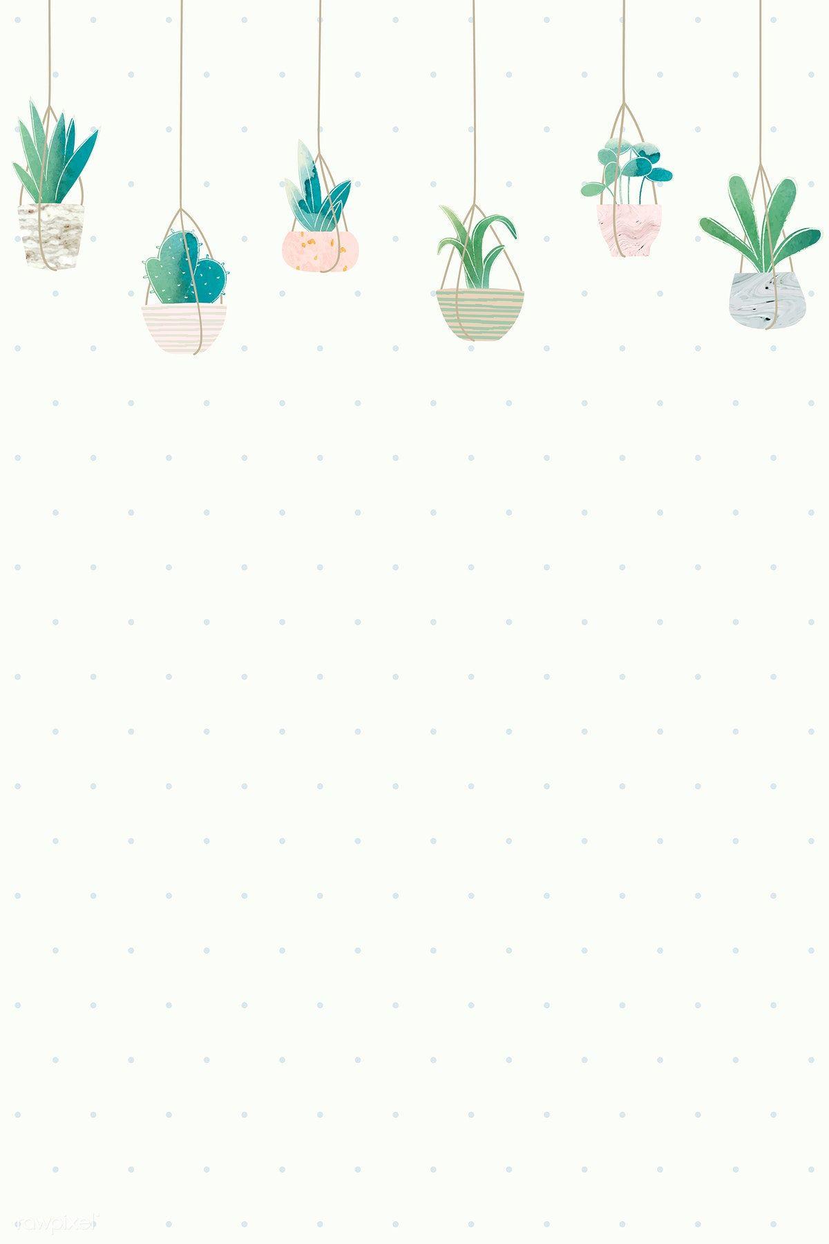 Download Premium Vector Of Blank Cactus Frame Design Vector 1017065 Cactus Illustration Cactus Backgrounds Plant Wallpaper