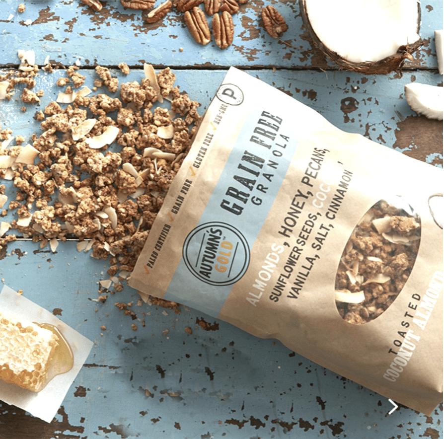 Autumn S Gold Grain Free Granola Certified Paleo Grain Free Granola Recipe Grain Free Granola Granola