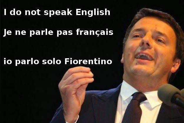 Renzi colpisce ancora, Prima con l'inglese, poi si cimenta ...