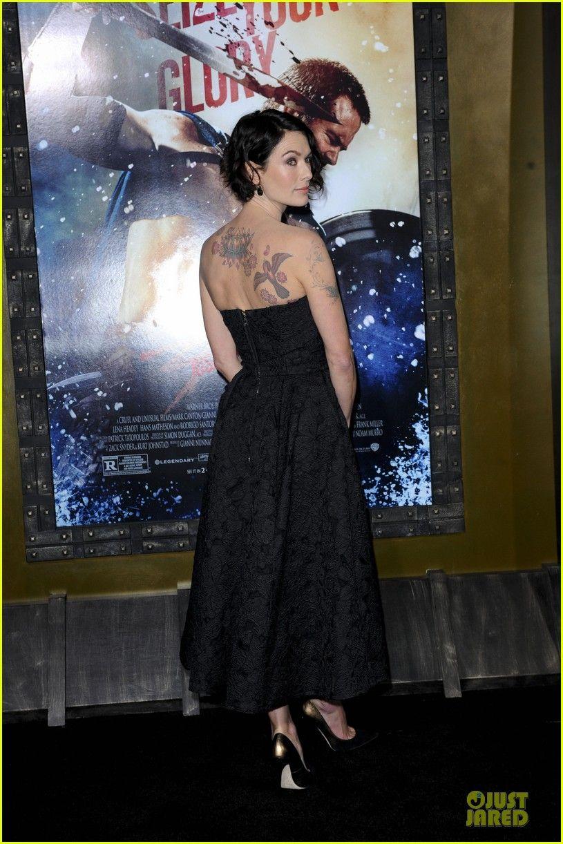Lena Headey Bares Sexy Tattoos at '300: Rise Of An Empire' Premiere with Eva Green! | lena headey shows tattoos at 300 premiere with eva gre...