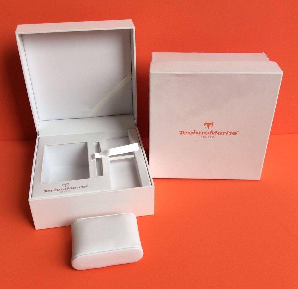 TECNOMARINE Watch Empty Box White Travel Case Storage Home