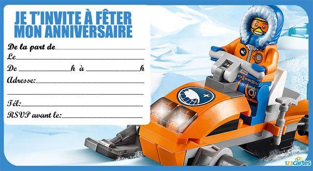 invitation anniversaire lego the city 1