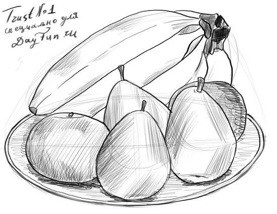 как нарисовать фрукты карандашом поэтапно 6