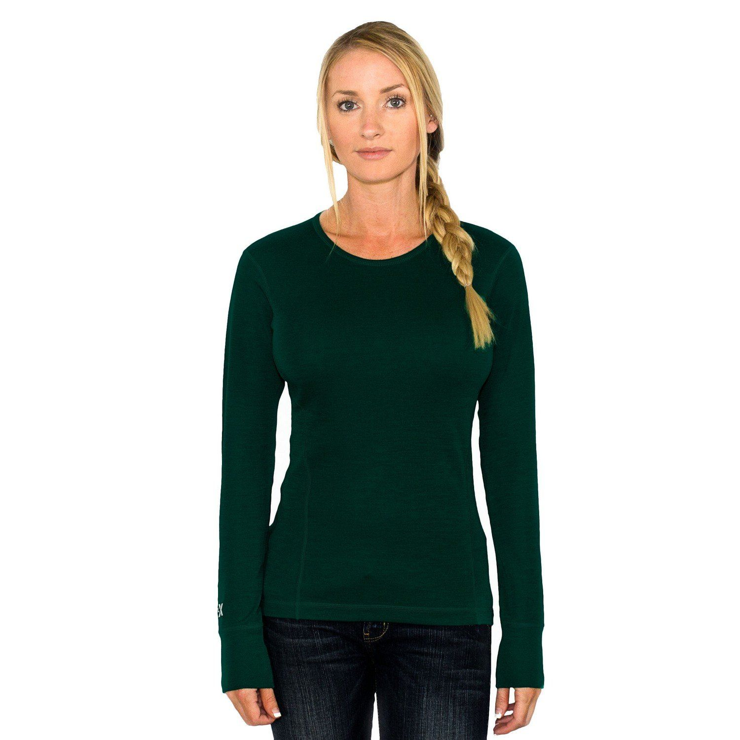 658b7a30df3a7 Womens merino wool base layer tops are perfect to wear while you are active  outside and