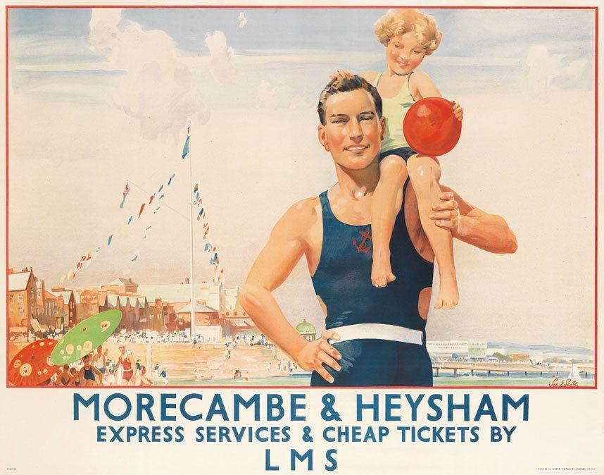 Vintage Transport Railway Rail Travel Advertising Poster RE PRINT Clacton on Sea