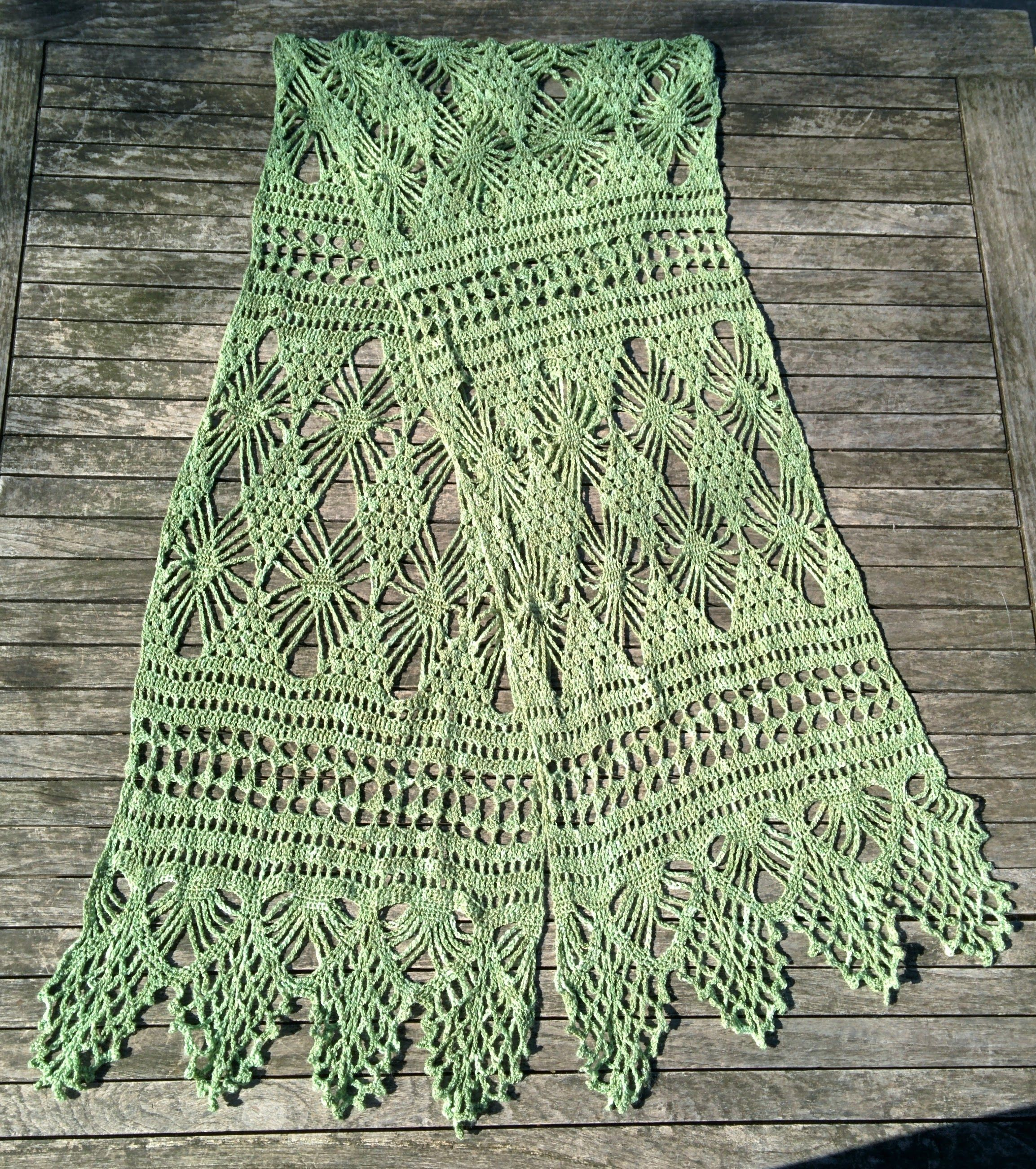 Single Skein Crochet Shawl The Process Of Reading Crochet Charts