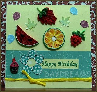 Quilled Fruits