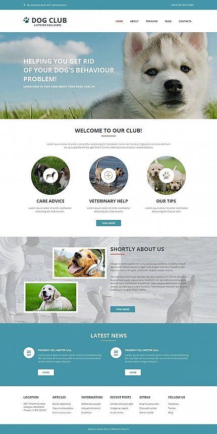 Dog Website Design for Breeders | HTML Web Templates | Pinterest ...