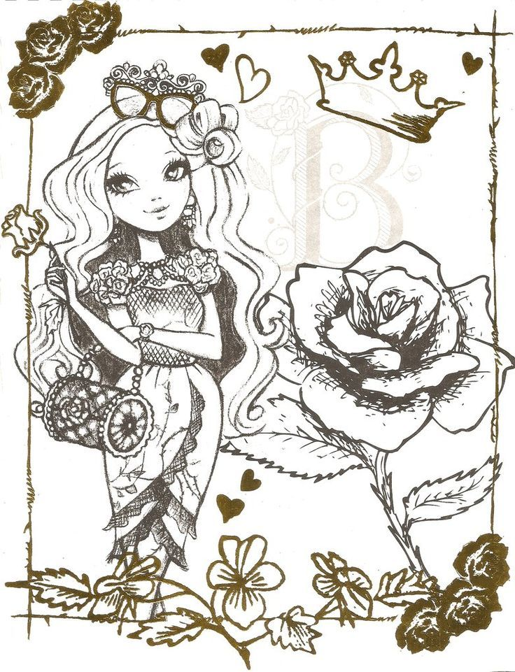 ever after high  coloring pages  Pinterest