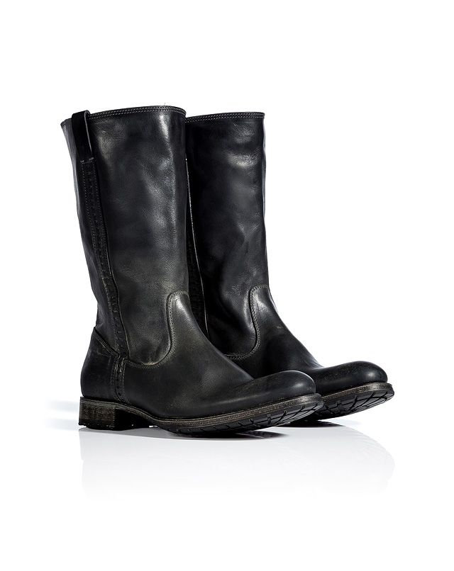 uk availability catch online here N.D.C. Asphalt Leather Dominique Mid-Length Boots   My Style ...