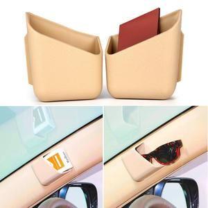 2pcs Car Organizer Auto Truck Pillar Storage Box Cigarette Phone Glasses IC Card Holder Organizers Bag Car Styling Accessories