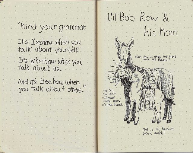 Page 5-Lil Boo Row & his Mom by molossus, who says Life Imitates Doodles, via Flickr