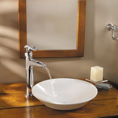 What about a deck mount waterfall faucet similar to this... Could ...