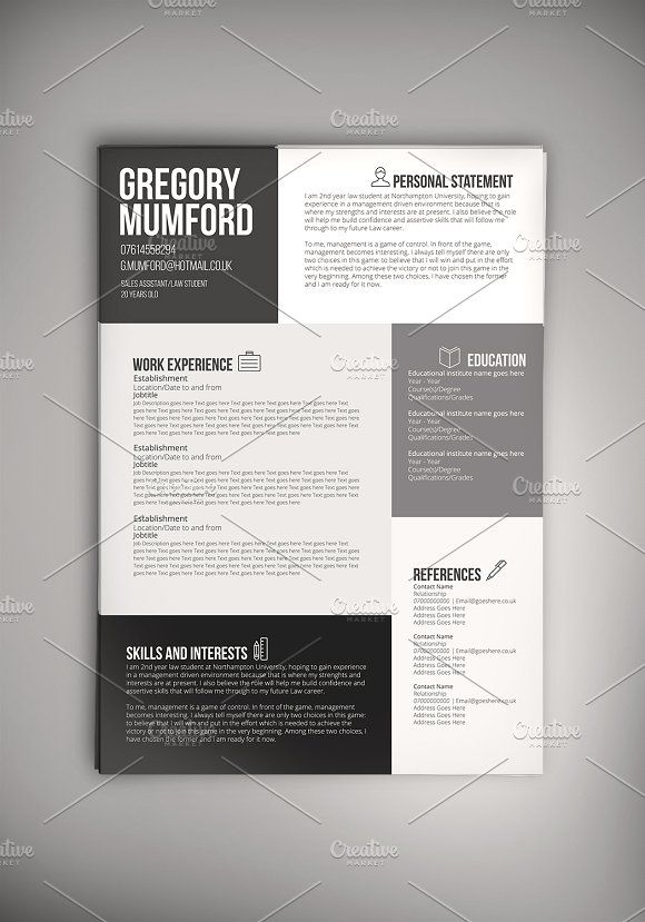 6 Shades Cv Resume Create Business Cards Resume Templates Templates