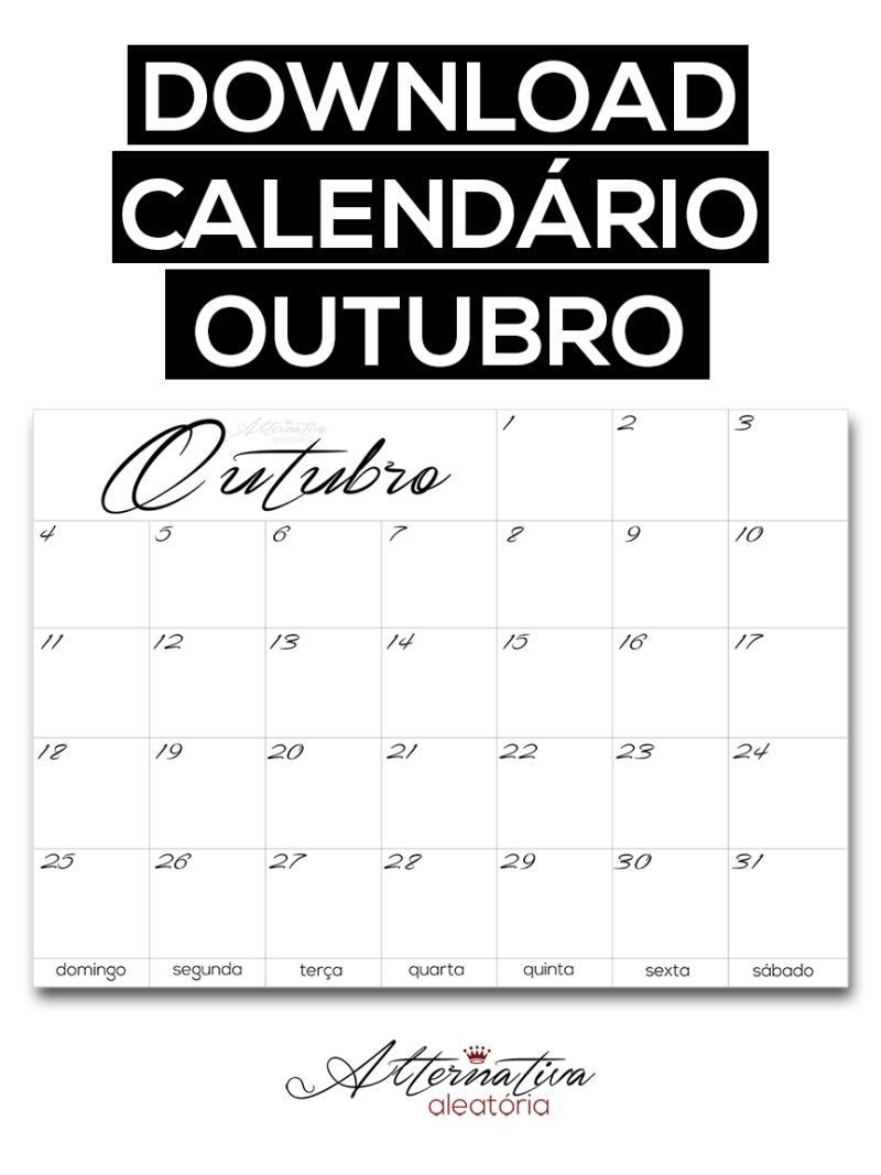 Calendário editorial / cronograma de outubro para download