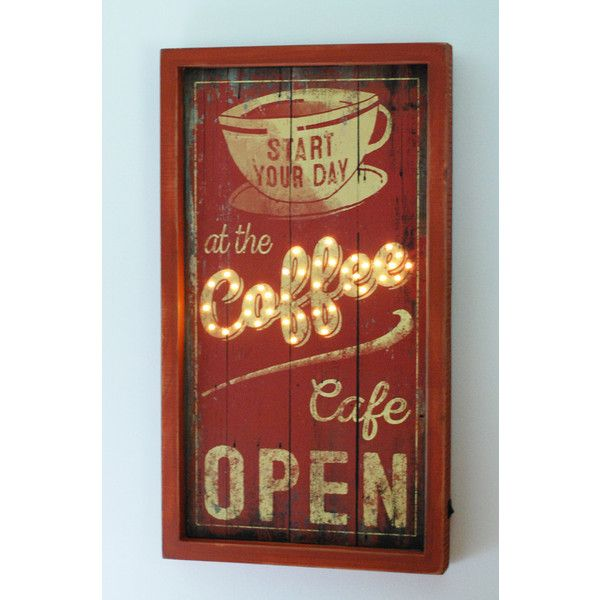 Lighted Box Sign Coffee Cafe 54 Liked On Polyvore Featuring Home Home Decor Wall Art Lighted Wall Art Cafe Wall Cafe Sign Light Box Sign Coffee Cafe