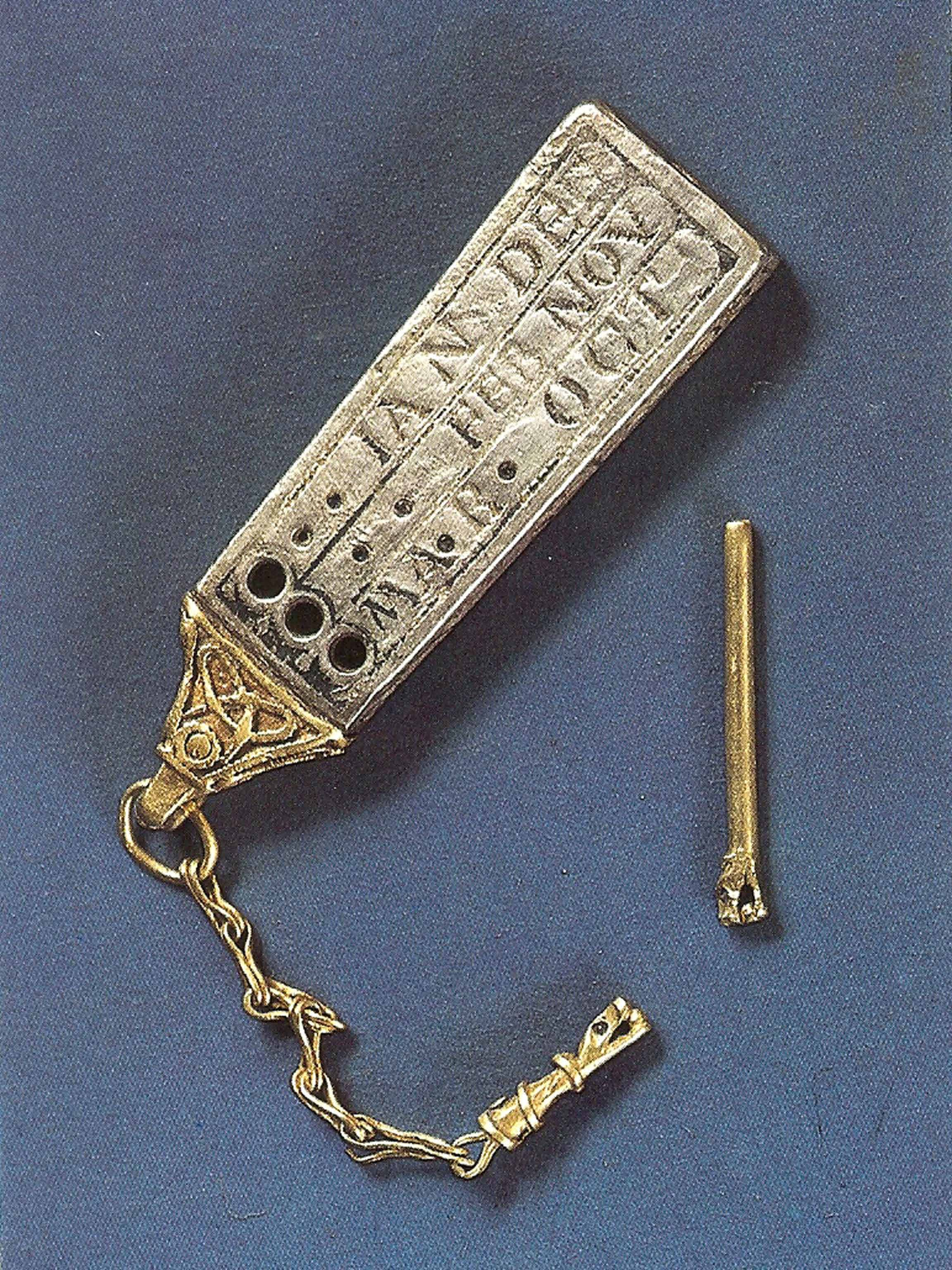 10th century portable sun dial which is kept in Canterbury Cathedral, Kent, England