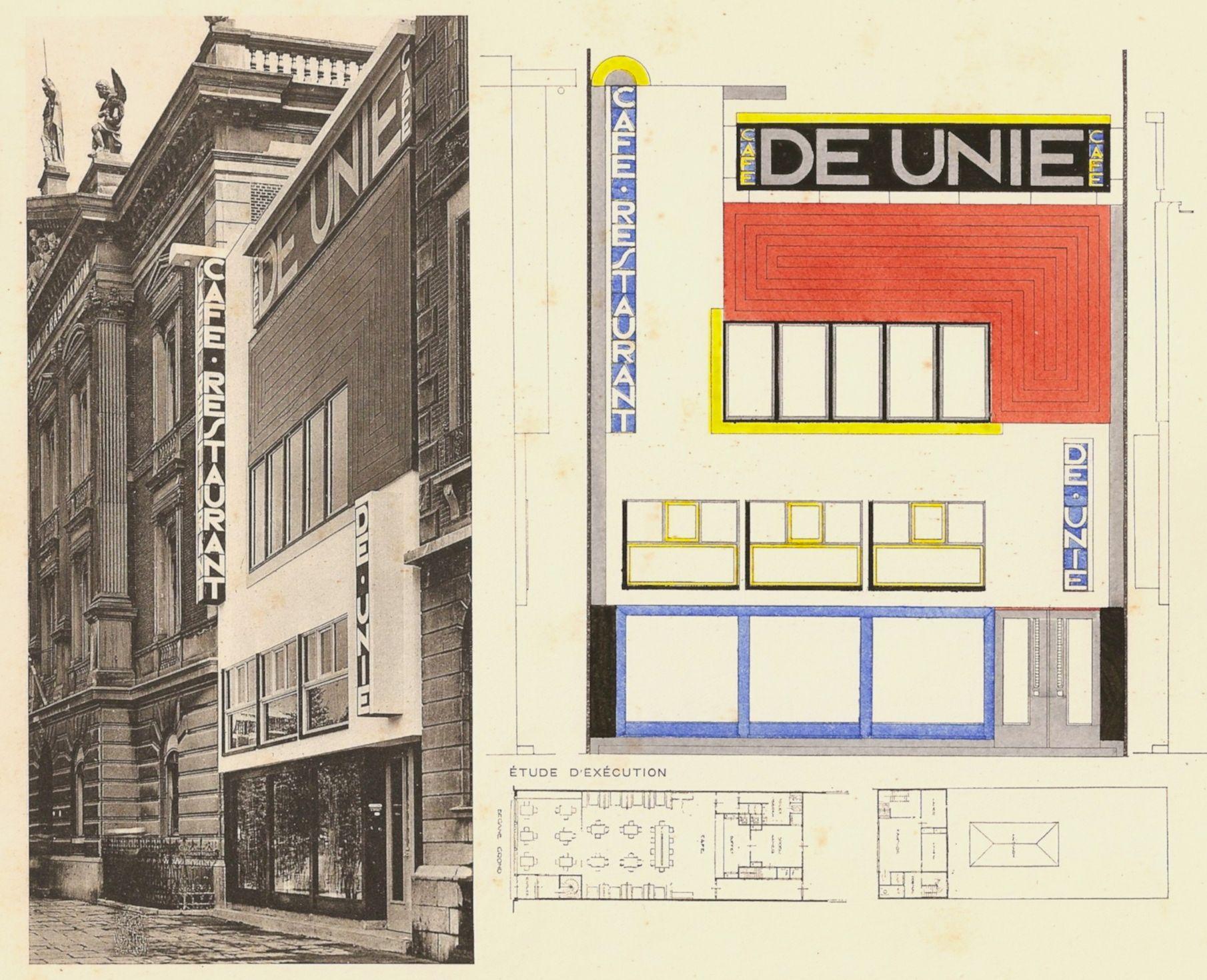 Favoriete J.J.P Oud, CAFE DE UNIE, 1925, Rotterdam | stuff | Pinterest @IH77