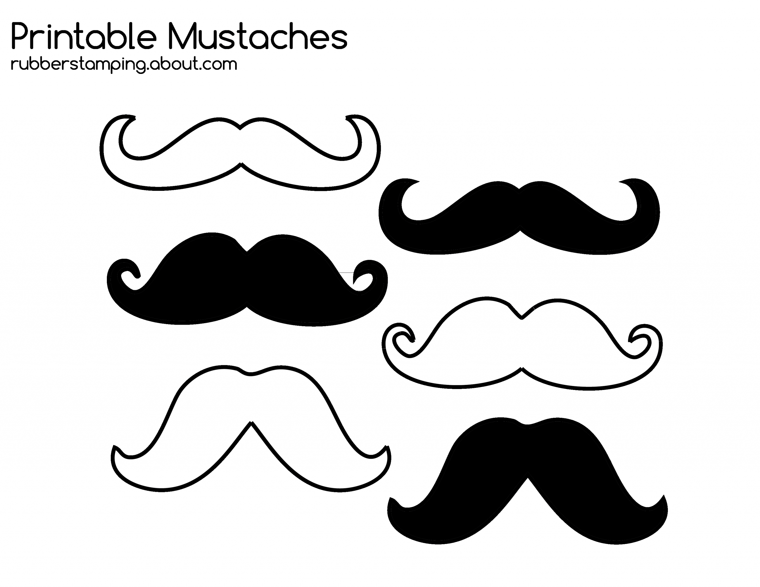 Mustaches Coloring Pages Ready To Print