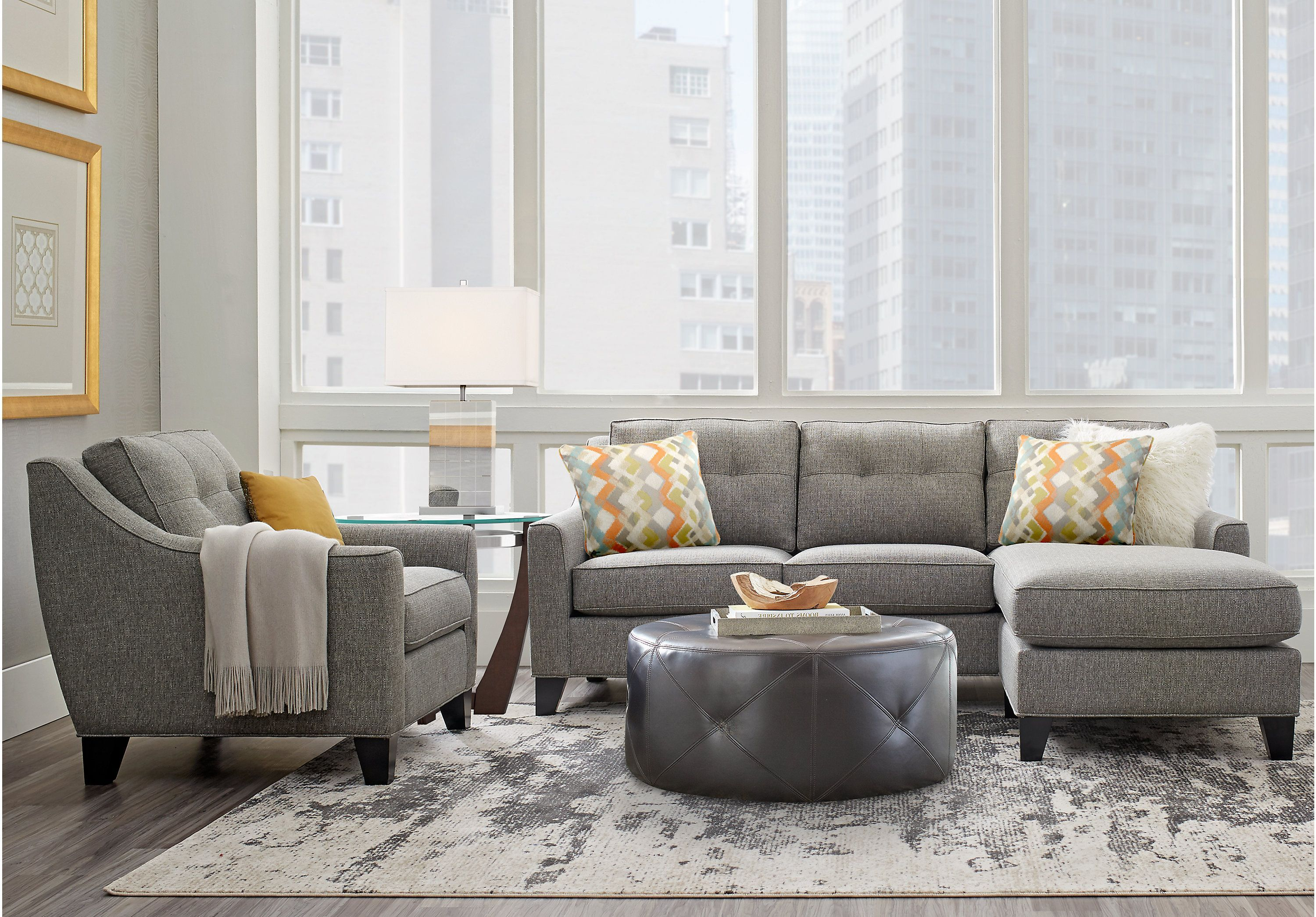 Best Cindy Crawford Home Madison Place Gray 2 Pc Sectional 640 x 480