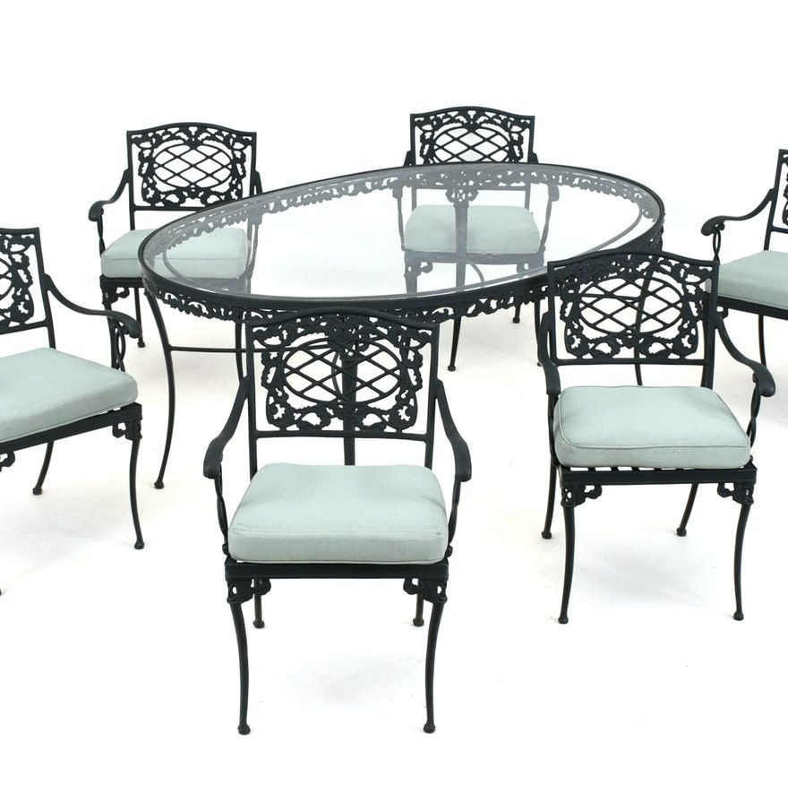 Brown Jordan Elegance Patio Dining Set Patio Dining Set Dining Set Glass Top Dining Table