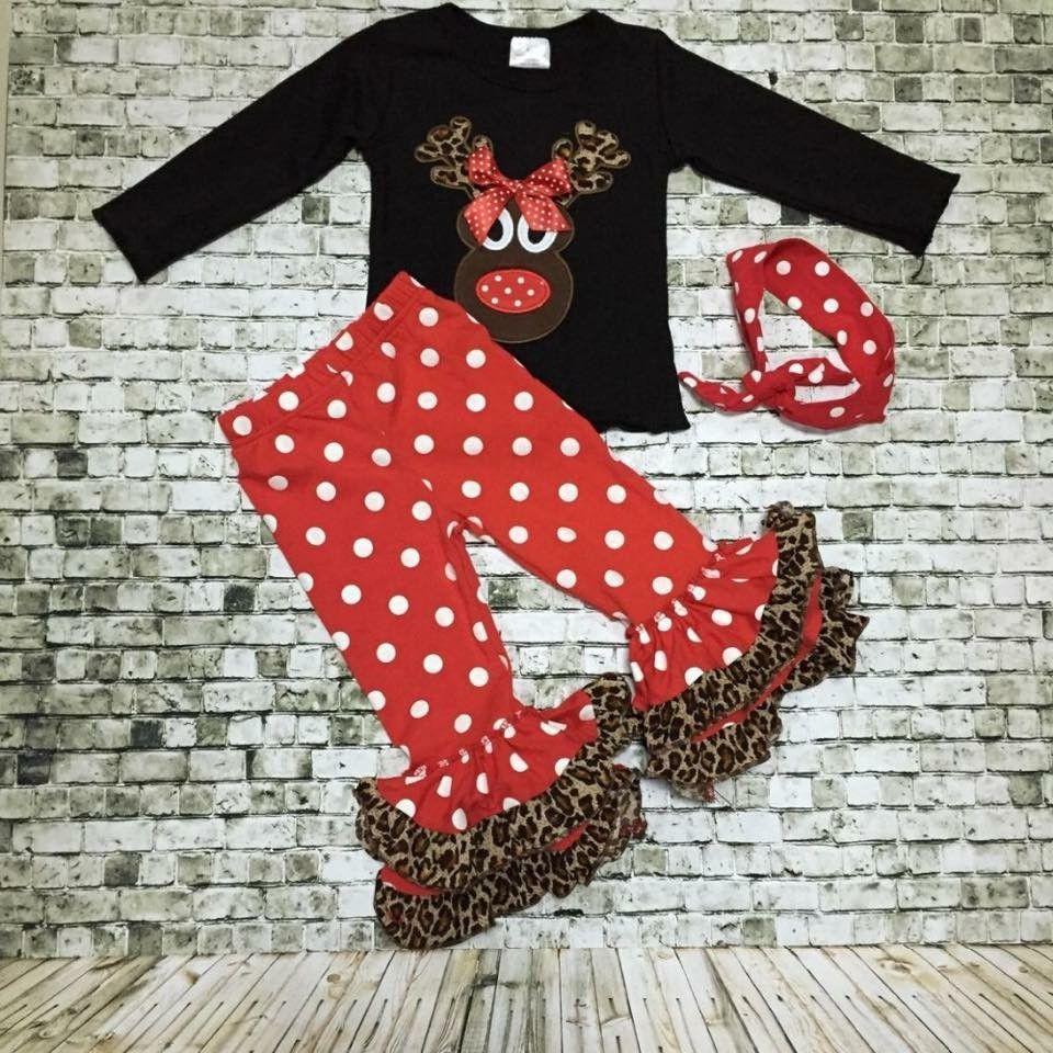 Mrs Cheetah Reindeer Boutique Outfit  look bebe  Pinterest  Kids