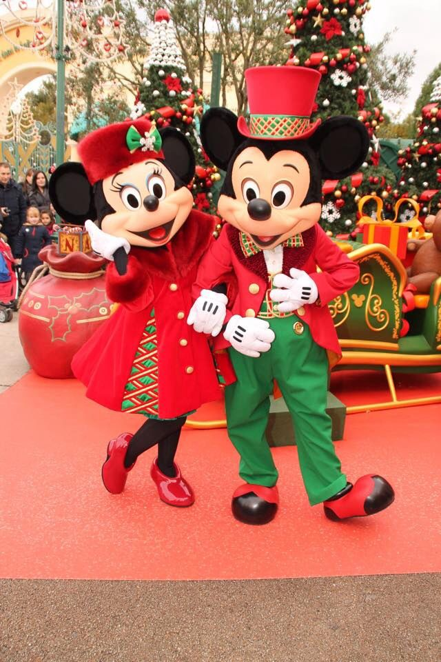 Merry christmas from mickey and minnie disney parks - Minnie mouse noel ...